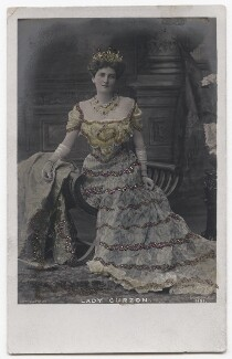 Mary Victoria (née Leiter), Lady Curzon of Kedleston, by Albert Edward Jeakins, published by  Rapid Photo Co - NPG x135953