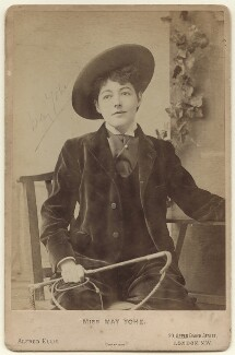 May Yohé as Dick Whittington in 'Dandy Dick Whittington', by Alfred Ellis, 1895 - NPG x135955 - © National Portrait Gallery, London