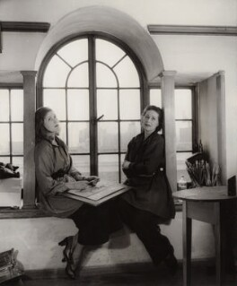 Julia Heseltine; Anna Zinkeisen, by Tom Blau, for  Camera Press: London: UK, 1955 - NPG x135962 - © Camera Press / Tom Blau