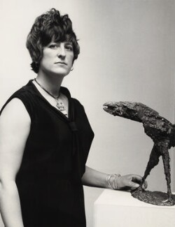 Elisabeth Frink, by Unknown photographer, for  Van Hallan Press Agency - NPG x135969