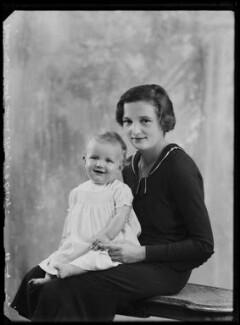 Lady Sheila Mary Holroyd (née Cairns); Charles John Holroyd, by Bassano Ltd - NPG x105102