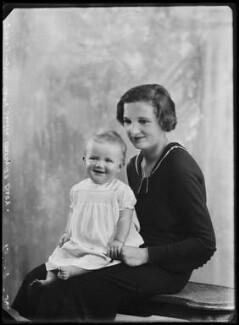 Lady Sheila Mary Holroyd (née Cairns); Charles John Holroyd, by Bassano Ltd - NPG x105103