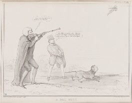 A Bad Shot (James Abercromby, 1st Baron Dunfermline; Joseph Hume; Daniel O'Connell; William Blennerhasset Fairman), by John ('HB') Doyle, printed by  Alfred Ducôte, published by  Thomas McLean, published 7 October 1835 - NPG D41346 - © National Portrait Gallery, London