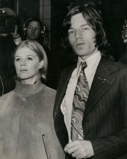 Marianne Faithfull; Mick Jagger, by Unknown photographer, 23 June 1969 - NPG  - © reserved; National Portrait Gallery, London