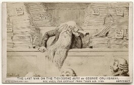 'The Last Man on the Tichborne Jury', by London Stereoscopic & Photographic Company, after  George Cruikshank - NPG Ax136017