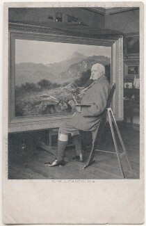 Benjamin Williams Leader (né Benjamin Williams), by Richard Williams Thomas, published by  Charles William Faulkner & Co ('C.W.F. & Co') - NPG x136028