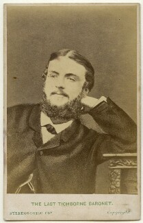 Sir Alfred Joseph Doughty-Tichborne, 11th Bt, by London Stereoscopic & Photographic Company, after  Adolphe Paul Auguste Beau, early 1870s (before 1866) - NPG x136037 - © National Portrait Gallery, London