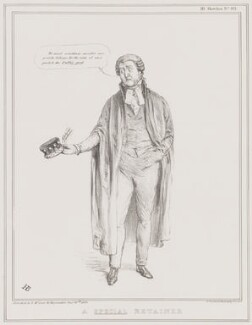A Special Retainer (John Campbell, 1st Baron Campbell of St Andrews), by John ('HB') Doyle, printed by  Alfred Ducôte, published by  Thomas McLean - NPG D41355