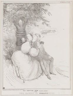Eve Tempting Adam - in Proper Costume! or The Garden of Stratheden, by John ('HB') Doyle, printed by  Alfred Ducôte, published by  Thomas McLean, published 30 January 1836 - NPG D41356 - © National Portrait Gallery, London