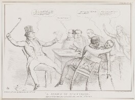 A Scene of Confusion, by John ('HB') Doyle, printed by  Alfred Ducôte, published by  Thomas McLean - NPG D41357