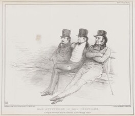 Old Attitudes in New Positions, by John ('HB') Doyle, printed by  Alfred Ducôte, published by  Thomas McLean - NPG D41360
