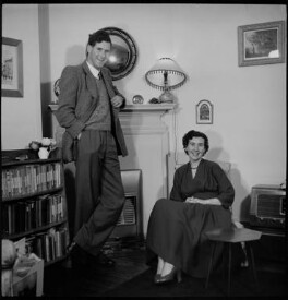 Sir (Erik) Christopher Zeeman; Elizabeth Salter (Elizabeth Zeeman), by Antony Barrington Brown - NPG x105215