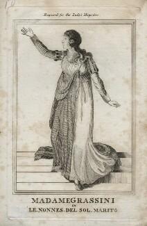 Giuseppina Grassini in le nonnes del sol marito [Due nozze e un sol marito], by Unknown artist - NPG D42329