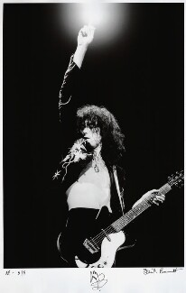 Jimmy Page, by Dick Barnatt, May 1975 - NPG  - © Dick Barnatt