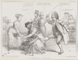 A Regular Kick-up!, by John ('HB') Doyle, printed by  Alfred Ducôte, published by  Thomas McLean, published 7 March 1836 - NPG D41361 - © National Portrait Gallery, London