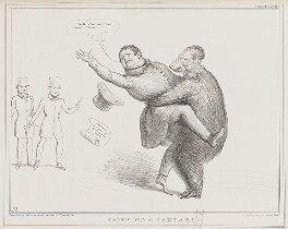 Catching a Tartar, by John ('HB') Doyle, printed by  Alfred Ducôte, published by  Thomas McLean - NPG D41362