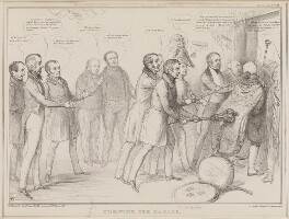 Turning the Tables, by John ('HB') Doyle, printed by  Alfred Ducôte, published by  Thomas McLean - NPG D41364