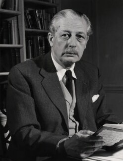 Harold Macmillan, 1st Earl of Stockton, by Unknown photographer - NPG x136152
