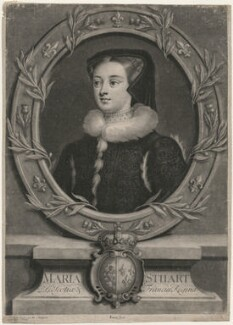 Unknown sitter, called Mary, Queen of Scots, by John Simon, after  Unknown artist - NPG D42340