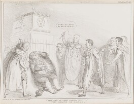 The Death of Caesar, by John ('HB') Doyle, printed by  Alfred Ducôte, published by  Thomas McLean - NPG D41368