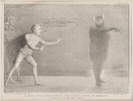 A Mis-representation of the Ghost Scene in Hamlet, by John ('HB') Doyle, printed by  Alfred Ducôte, published by  Thomas McLean - NPG D41372