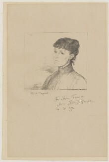 Alice Meynell (née Thompson), by William Rothenstein - NPG D42654
