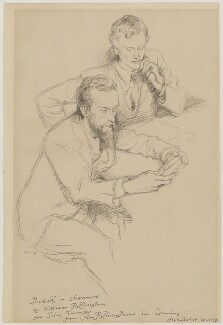 Charles de Sousy Ricketts; Charles Haslewood Shannon, by William Rothenstein - NPG D42655