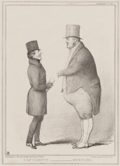 Deficiency - Surplus (Thomas Spring Rice, 1st Baron Monteagle of Brandon; James Pattison), by John ('HB') Doyle, printed by  Alfred Ducôte, published by  Thomas McLean - NPG D41379