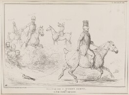 Hounds on a Wrong Scent, by John ('HB') Doyle, printed by  Alfred Ducôte, published by  Thomas McLean - NPG D41385