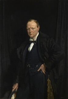 Winston Churchill, by Sir William Orpen, 1916 - NPG  - Lent by the Churchill Chattels Trust; Image © National Portrait Gallery, London
