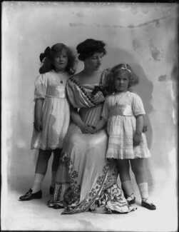Ethel Lucy (née Hare), Lady Perrott with her children, by Bassano Ltd - NPG x105674