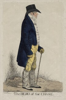 Colonel Hylton Jolliffe ('The hero of the chase'), by Richard Dighton, published by  Thomas McLean - NPG D42342