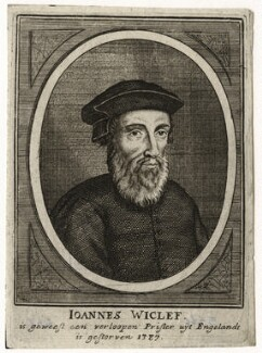 John Wyclif, by Gaspar Bouttats, after  Hendrik-Frans Verbruggen - NPG D42322