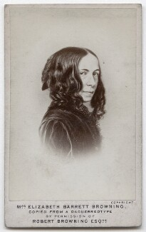 Elizabeth Barrett Browning, by Elliott & Fry, after  Macaire - NPG x136269