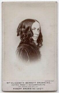 Elizabeth Barrett Browning, by Elliott & Fry, after  Macaire - NPG x136269