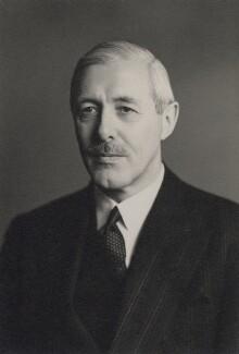 Sir Francis Edward Evans, by Walter Stoneman - NPG x167437
