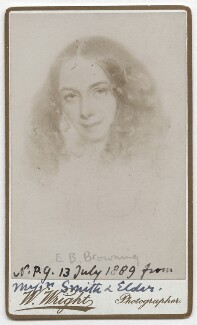 Elizabeth Barrett Browning, by William Wright, after  Field Talfourd - NPG x136271