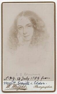 Elizabeth Barrett Browning, by William Wright, after  Field Talfourd, circa 1889 (1859) - NPG x136271 - © National Portrait Gallery, London