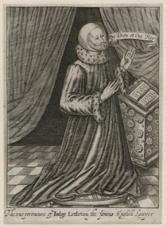 Sir Thomas Littleton (Lyttleton), by Robert Vaughan, after  Unknown artist - NPG D42344