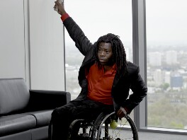 Ade Adepitan, by Brian Griffin, 26 April 2010 - NPG  - © Brian Griffin