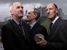 Sir David Hartmann Higgins; Ian Galloway; Sir John Alexander Armitt, by Brian Griffin, 3 March 2010 - NPG P1719 - © Brian Griffin