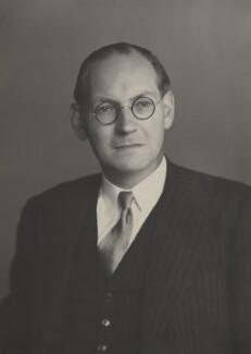 Eric George Molyneux Fletcher, Baron Fletcher, by Walter Stoneman - NPG x167576