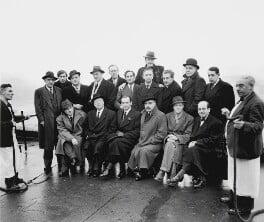 Festival of Britain group, including Osbert Lancaster, Feliks Topolski and Sir Huw Wheldon, by Elsbeth R. Juda - NPG x136298
