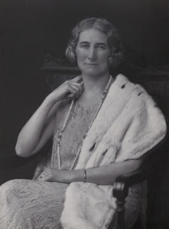 Rachel Cecily (née Douglas-Scott-Montagu), Lady Forster, by Walter Stoneman, 1930 - NPG x167614 - © National Portrait Gallery, London