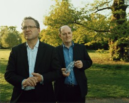 Adrian Warner; Roger Mosey, by Emma Hardy - NPG P1772