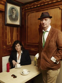 Fiona Banner; Bob & Roberta Smith (Patrick Brill), by Jillian Edelstein - NPG P1775