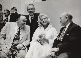 Jayne Mansfield; Ted Hill; Morgan Phillips; William John Carron, Baron Carron, by Neil Libbert - NPG x136291