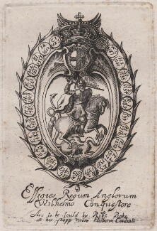 Title for 'Effigies Regum Anglorum a Wilhelmo Conquestore' (King William I ('The Conqueror')?), probably by William Faithorne, published by  Sir Robert Peake - NPG D42356
