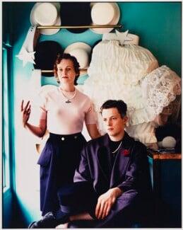 Dame Vivienne Westwood; Joseph Corré, by Laurie Lewis - NPG x136302