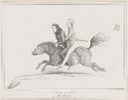 Irish Poucha [Pooka], by John ('HB') Doyle, printed by  Alfred Ducôte, published by  Thomas McLean - NPG D41390